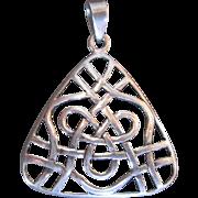 Romantic Celtic Love Knot Sterling Silver Pendant