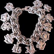 Fun Silver Zodiac Charm Bracelet Astrological Sign Jewelry