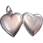 Sweetheart Vintage Sterling Charm Heart Locket by Bell Sterling Adorable!