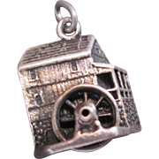 Vintage Cini Sterling Silver Water Wheel House Charm Vintage 60s Era Dimensional