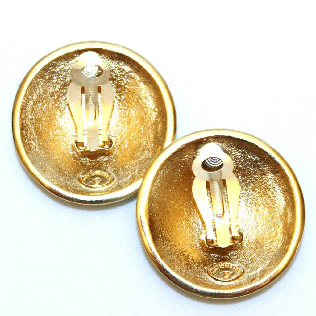 Vintage guy laroche french couture rhinestone enamel clip for French couture