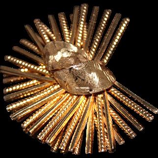 Vintage Henkel & Grosse Germany Mid-Century Modern Stylized Atomic Pin/Brooch 1960