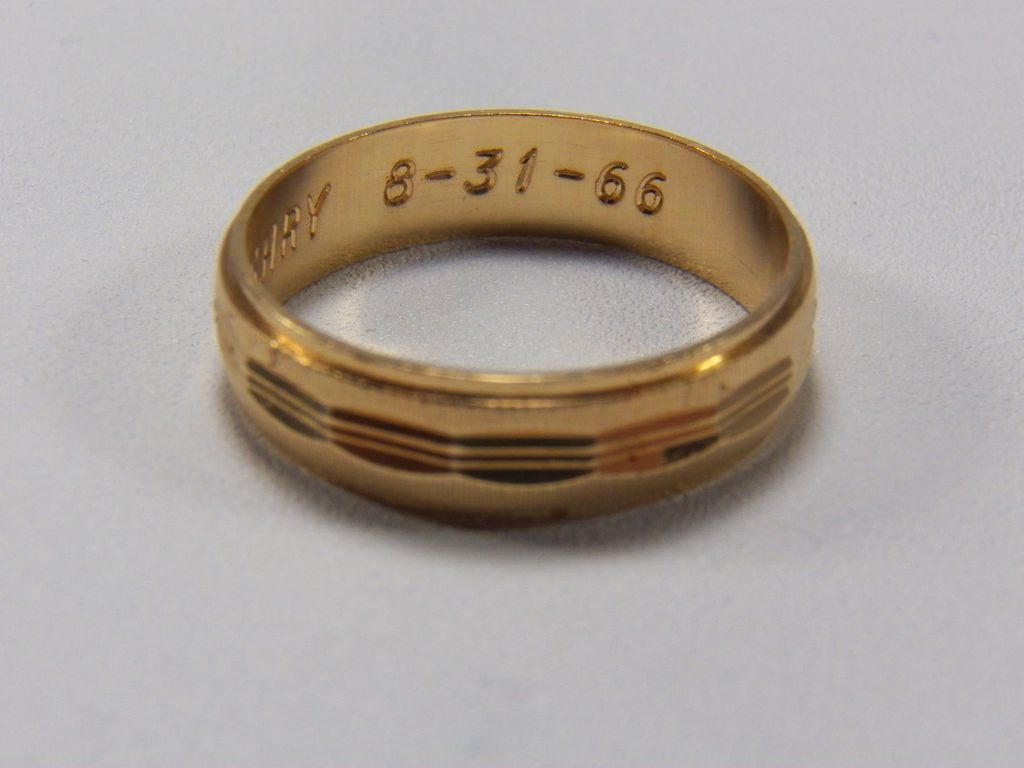 Mid Century Mens 14K Yellow Gold antique mens wedding bands Roll over Large image to magnify click Large image to zoom