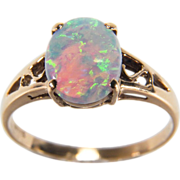 Classic 14K Yellow Gold Opal Ring