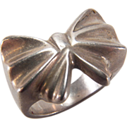 Cool MEXICO Silver Bow Design Ring