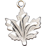 Sterling Silver Estate Maple Leaf Charm