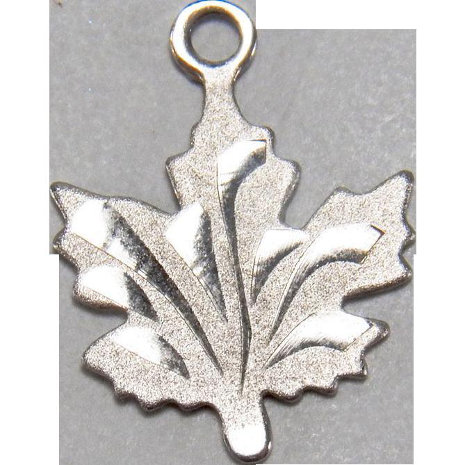 Sterling Silver Estate Maple Leaf Charm