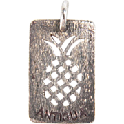 Vintage Antigua Cut Out Pineapple Sterling Silver Charm