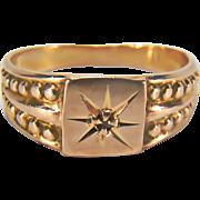 Victorian Diamond Baby 14K Yellow Gold Ring