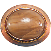 Victorian Agate 10K Rose Gold Pin