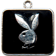 Vintage Playboy Bunny Silver Plated Charm