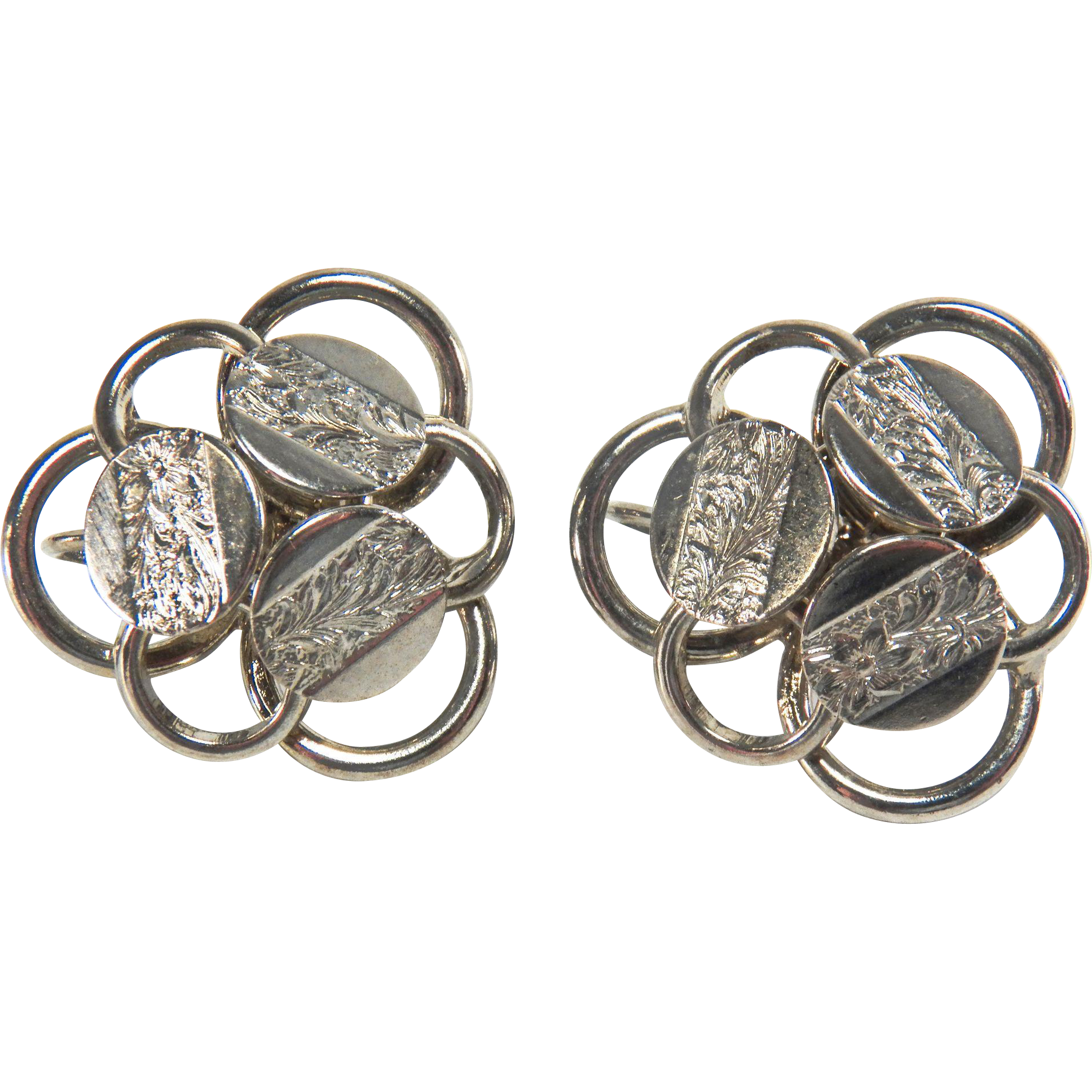 Vintage Sarah Coventry Silver Toned Clip Earrings