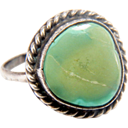 Old Pawn Vintage Navajo Turquoise Sterling Silver Ring