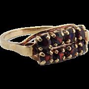 Vintage 8K Yellow Gold Bohemian Garnet Ring