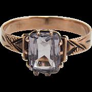 Victorian Amethyst 10K Rose Gold Ring