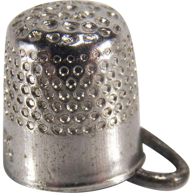 Vintage Sterling Silver Thimble Charm