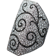 Black & White Diamond Designer Cocktail Ring by Palmiero Italian Jewelry