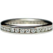 .46ctw Eternity Diamond Wedding Band Anniversary Ring 14k White Gold - Size 5