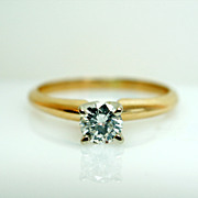 .28ct Round Brilliant Cut Diamond Solitaire Engagement Ring - Size 4.75