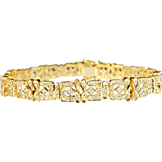 Vintage 18k Yellow Gold Diamond Bracelet