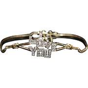 Vintage Diamond I LOVE YOU Bracelet 14k Yellow Gold Jewelry