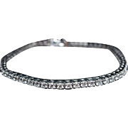 Vintage 2.43CT Diamond Tennis Bracelet in 14k White Gold Antique Jewelry