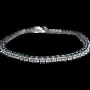 Vintage 2.43CT Diamond Tennis Bracelet in 14k White Gold Antique Jewelry