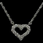 Vintage Platinum Diamond Cross Pendant Nekclace