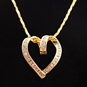 Pure Hearted Love - Diamond Open Heart Pendant