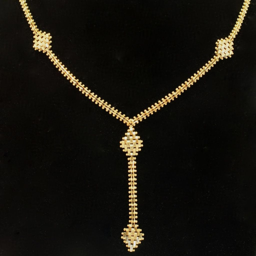 vintage 14k yellow gold pendant necklace with matching gold earrings