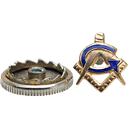 Vintage 10k Yellow Gold Masonic Pin
