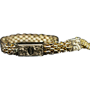 Vintage Art Moderne Baby Bracelet Retro Ring 9k Yellow Gold Unique Jewelry Ring Band