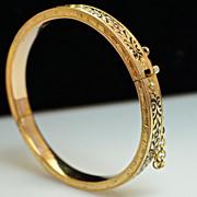 Antique Bracelet - Late Victorian Enamel Child's Bracelet