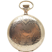 Antique 1895 Elgin Pocket Watch 14k Yellow Gold Filled