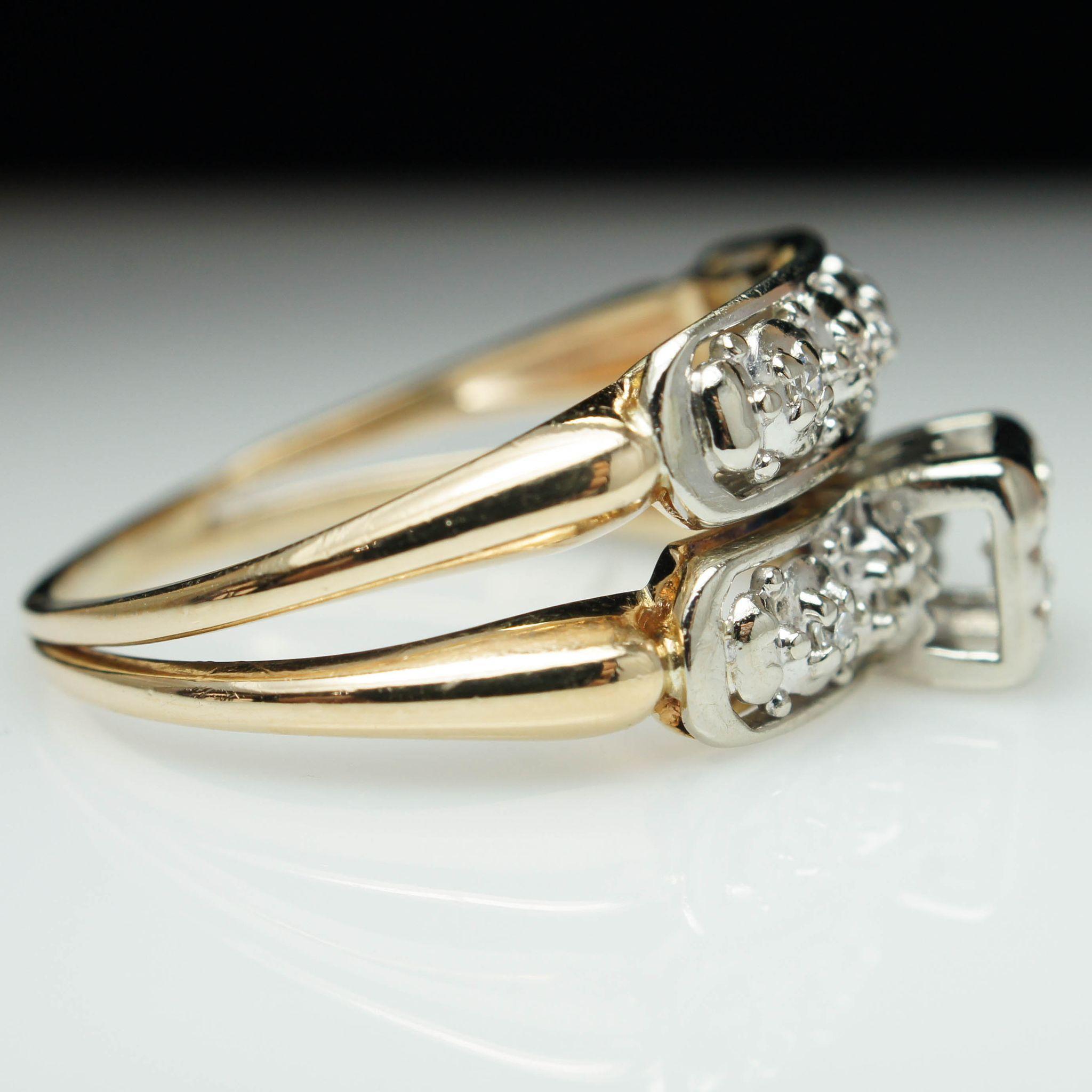 vintage deco assembled engagement ring