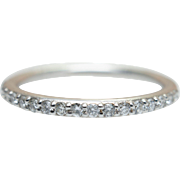 0.20CT Diamond Wedding Band 14K White Gold Wedding Ring