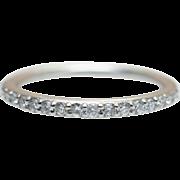 0.20CT Diamond Wedding Band 14K White Gold Wedding Ring