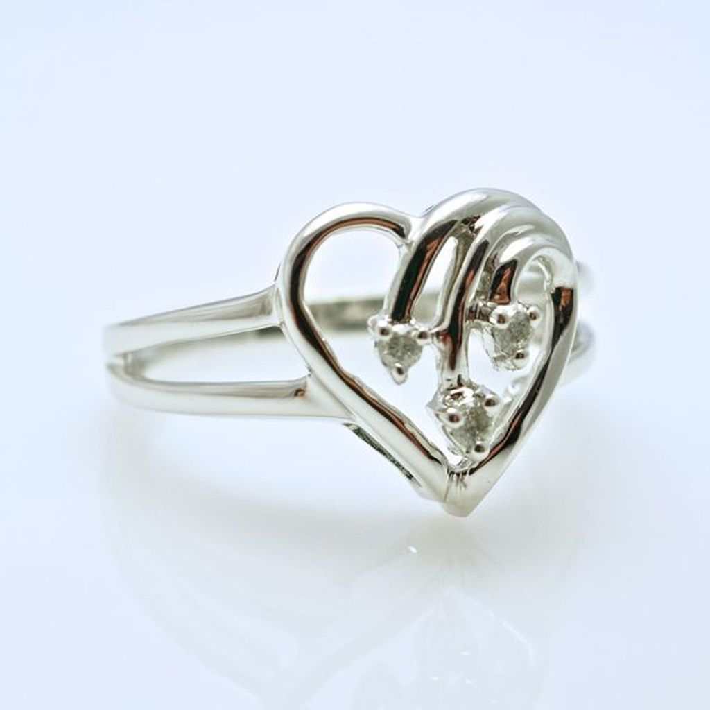 Heartfelt Pleasure - Diamond Open Heart Ring