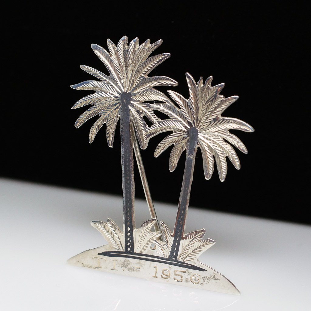 Vintage Sterling Silver Palm Tree Brooch