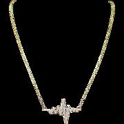 Custom Handmade Natural Diamond Heartbeat Pendant 14k Yellow Gold Jewelry
