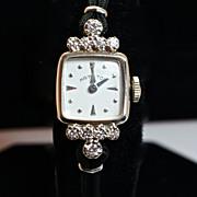 Vintage Women's 14k White Gold & Diamond Hamilton Watch