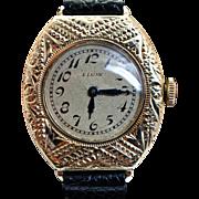 Vintage Ladies Elgin Gold Filled Wrist Watch - Womens Watch