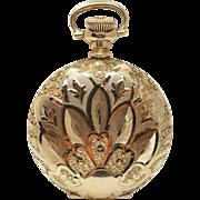 Vintage Elgin Pocket Watch in 14k Yellow Gold