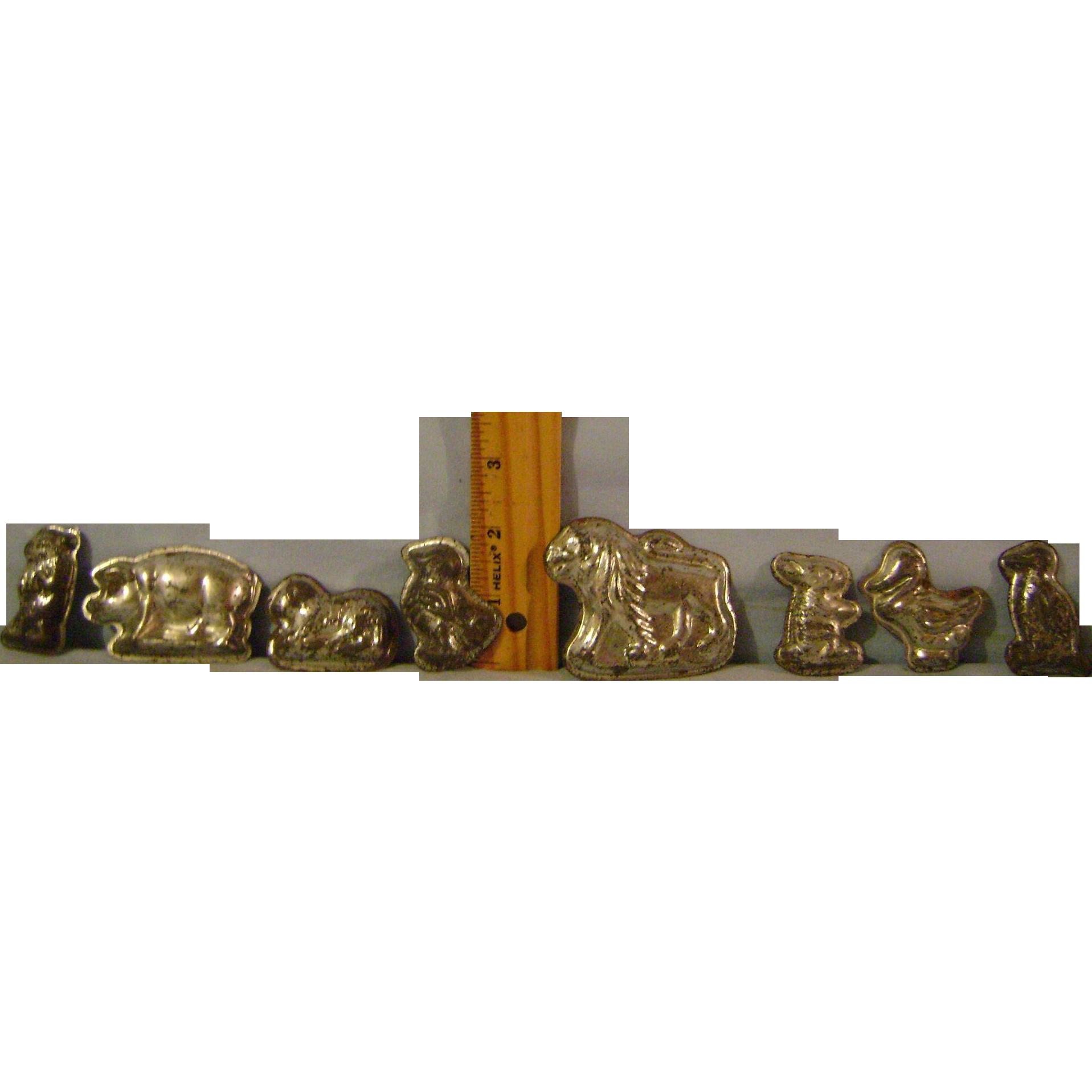Eight Miniature Animal Molds
