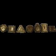 Seven Vintage Miniature Molds