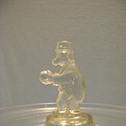 Vintage Barney Google Comic Character Glass Candy Container