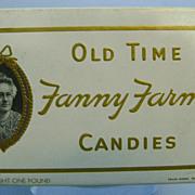 Vintage Fanny Farmer Cardboard Candy Box