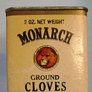 Vintage Monarch Cardboard Spice Tin