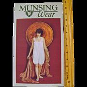 Vintage Cardboard MunsingWear Stand-up Sign