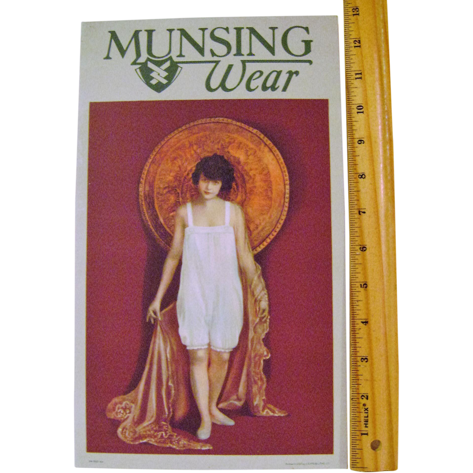Vintage Cardboard MunsingWear Stand-up Sign